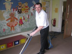 Cleaning Carpets at Cardiff Nursery School